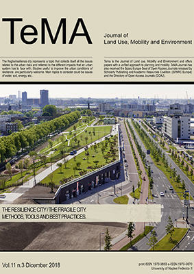 Vol 11, N° 3 (2018): The Resilience City/The Fragile City. Methods, tools and best practices